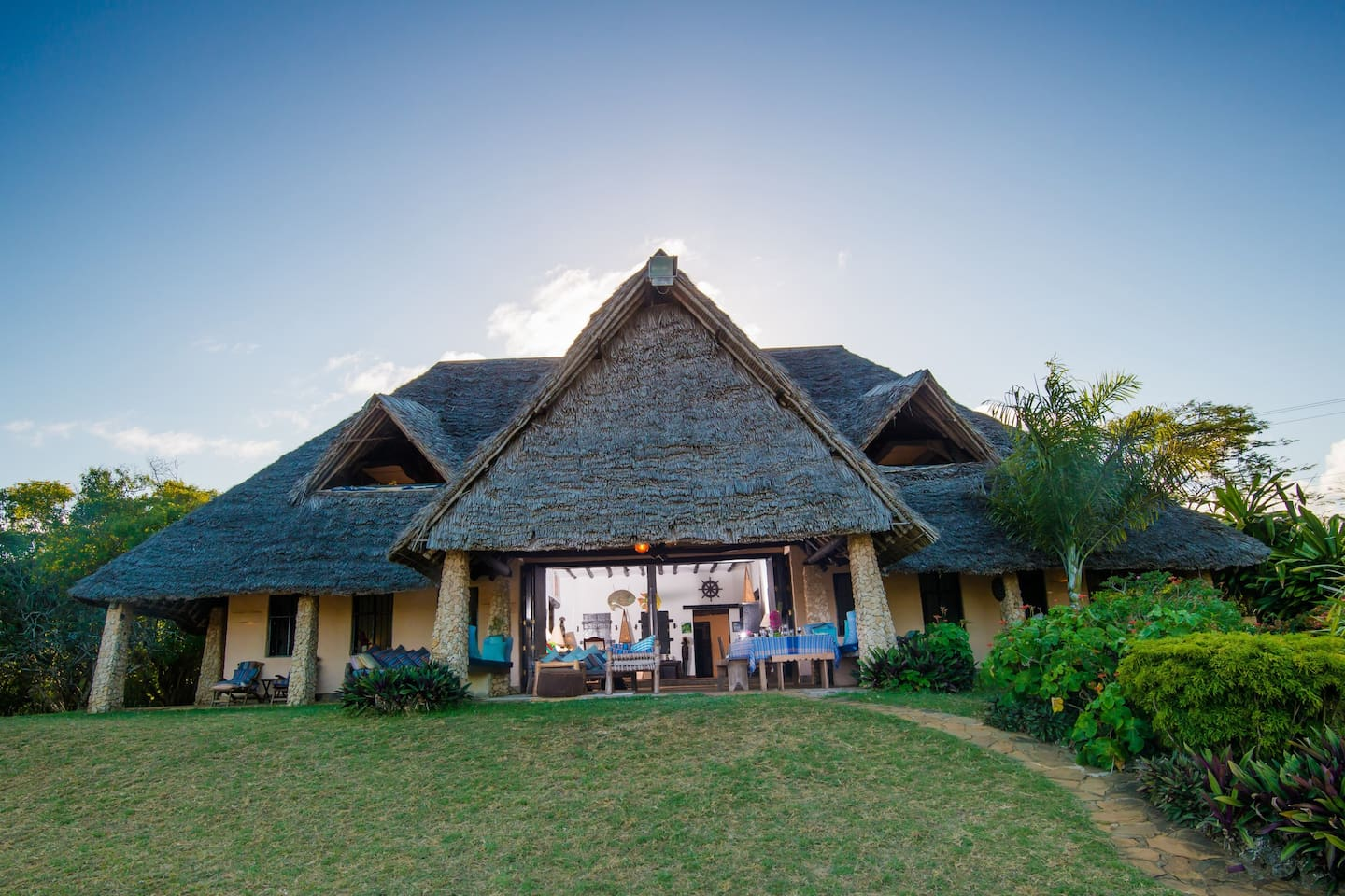 Our lovely Swahili-style home