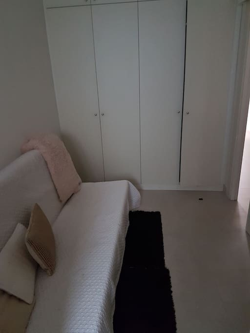 the closets in the guestroom