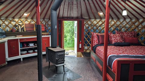 """ReLive Yurt Cabin """"THE SCARLET"""""""