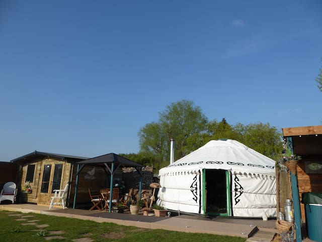 Lakeland Yurts  Bluebell Yurt PRIVATE HOT TUB