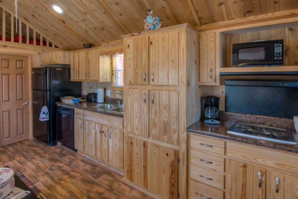 The large kitchen offers the convenience of home