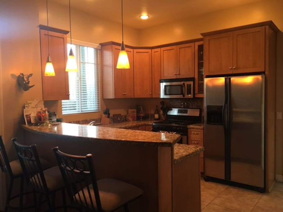 Enjoy a full sized kitchen with all the amenities