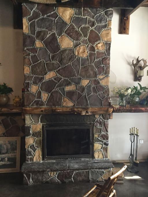 温暖的壁炉