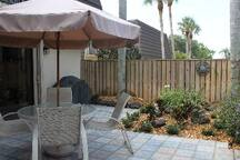 professionally landscaped garden