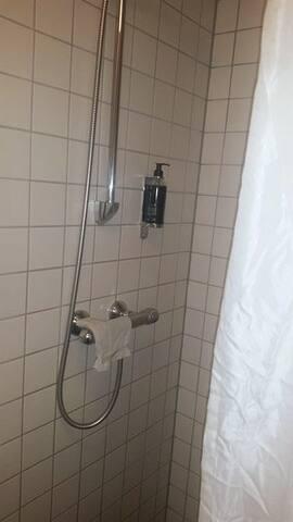 The bathroom next to bedroom