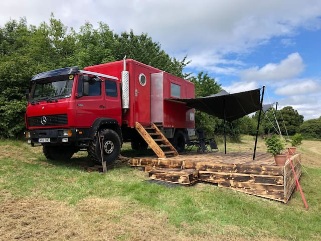 'Big Red' showman's truck with incredible views