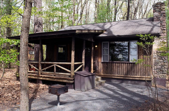 2 BR Woodside Cottage with Rowboat and BBQ Grill