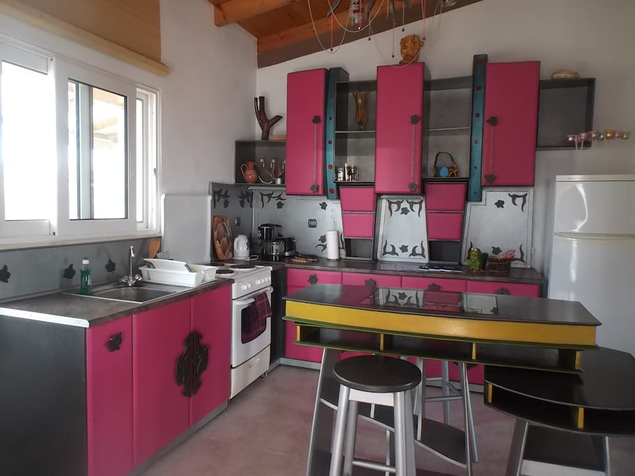 The tailormade apartment, 90 sqm, sleeps 6 guests. Fully equipped kitchen.