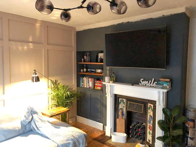 Cosy room in stylish chic house