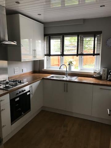 Modern clean kitchen.