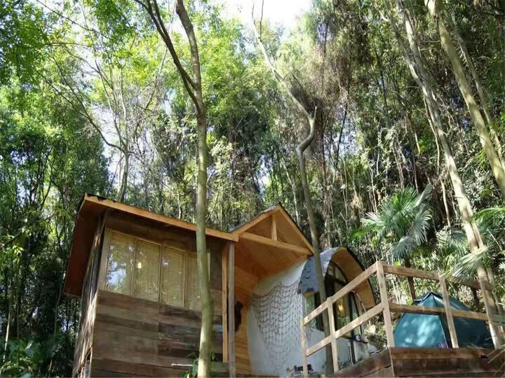 萤火谷树屋度假屋之水泥桶石头屋