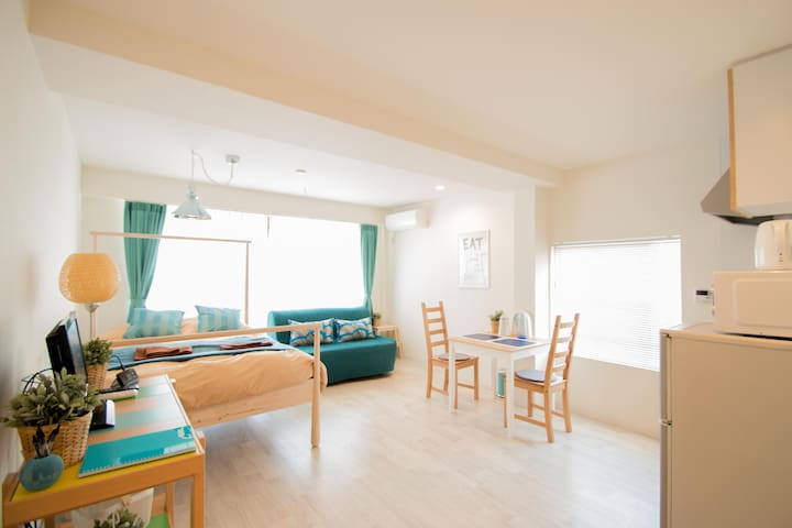 4ppl Calm Village #302 - Ōsaka-shi - Appartement
