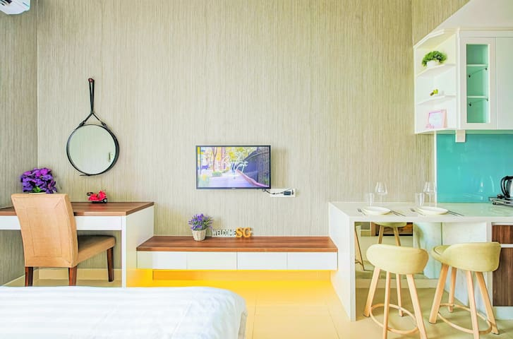 MODERN APART☆FREE Pool&Gym and City Center