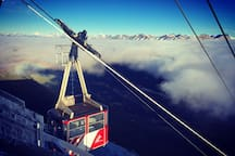 Jasper SkyTram early morning inversion