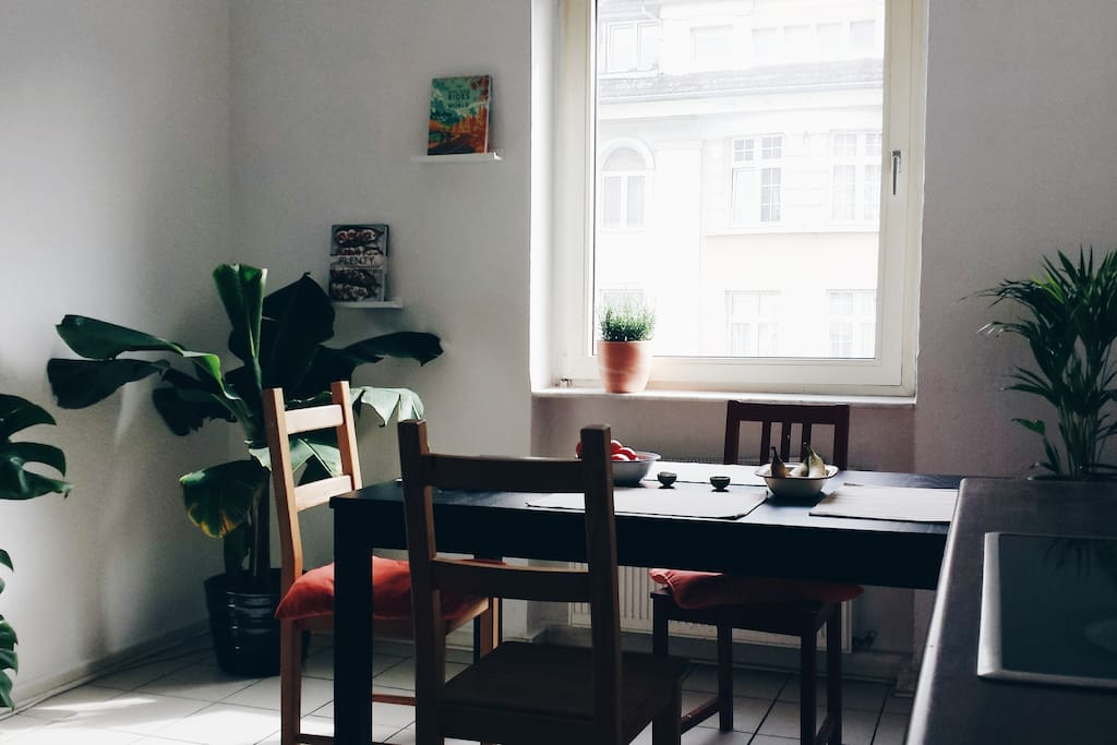 Light-flooded dining area for your morning coffee