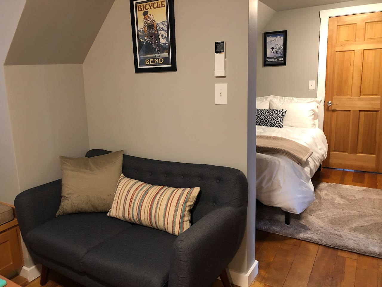 This cute little suite is all you need.  Newly remodeled, but keeping the charm of the original 1920's mill house.  We hope you enjoy it!