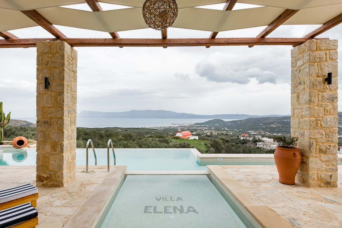 Villa Elena Chania - Explore Nature near a Luxurious Stone Villa with a Garden