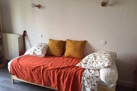 Chambre cosy simple ou double, balcon et jardin,