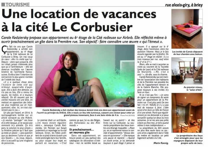 Le Corbusier welcomes you