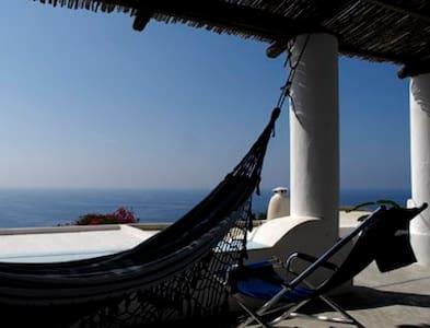 Casa Eoliana con vista mozzafiato sul mare. - Stimpagnato - Talo