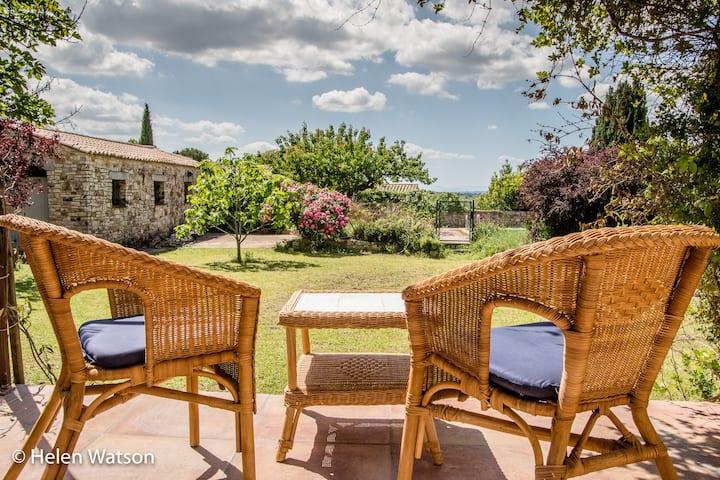 Spacious villa in village close to Uzès, Languedoc