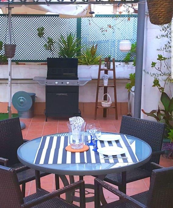 Zona comedor terraza