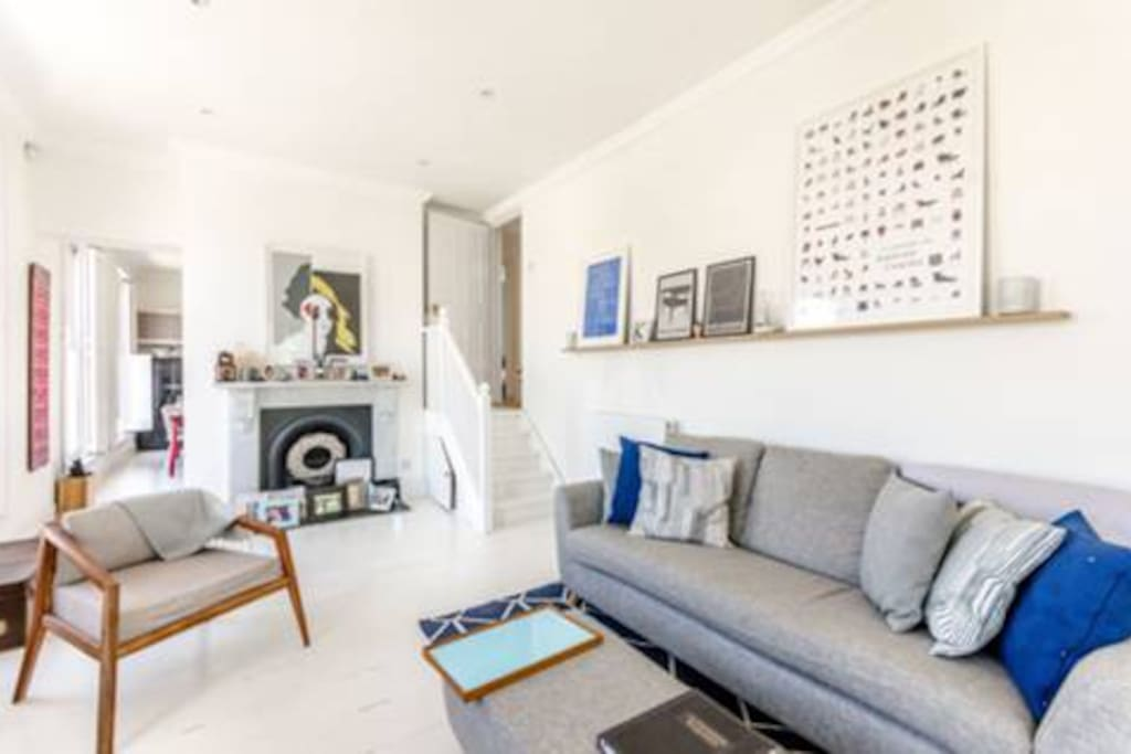 Clean bright living room