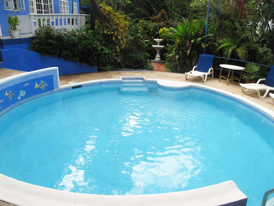 The pool is shared with property's other two units
