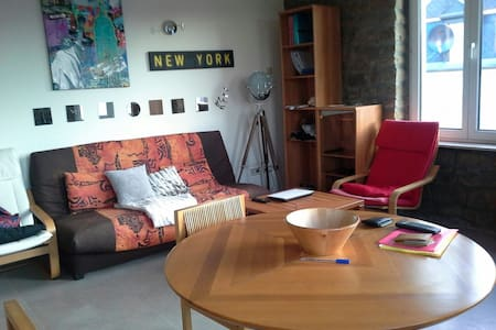 Double sofabed in cozy living room Luxembourg city