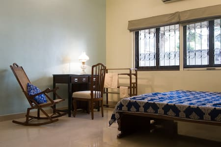 Private 1BHK on grounds of a charming bungalow