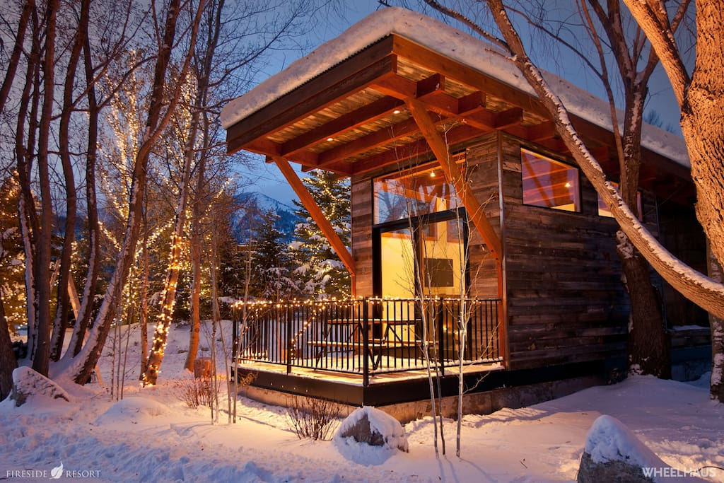 Jackson Hole Modern Rustic Ski Cabin just minutes from skiing and snowboarding at Jackson Hole Mountain Resort.