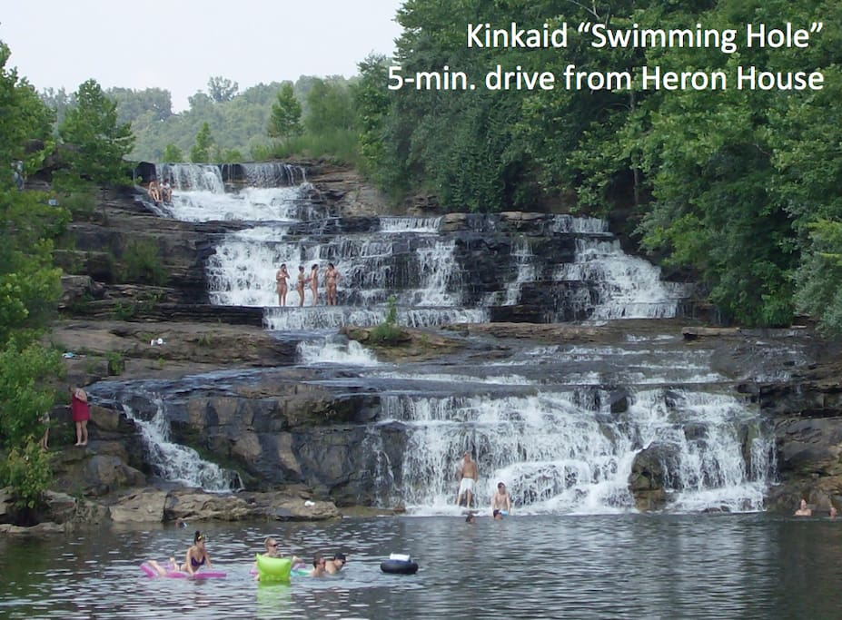 Our absolute favorite neighborhood swimming hole, hands-down, all day long, and all night too for that matter!  :)  Kinkaid is a water-lover's playground in pristine, undeveloped beauty. Swim, fish, enjoy the sunsets. Skiers/tubers can bring/rent a boat. (Driving distance from campground)