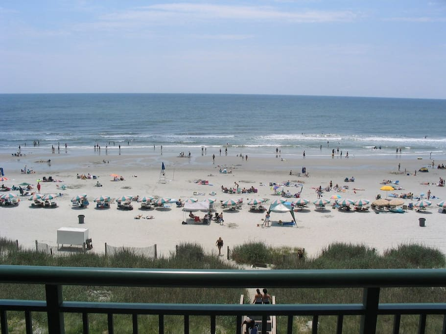 Beach view from the condo's expansive deck.