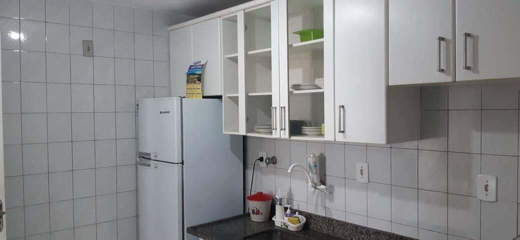 Apartamento bem arejado e bem próximo do mar