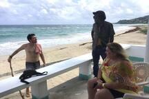 Brazil, Jamaica and Austria, all on one beach!