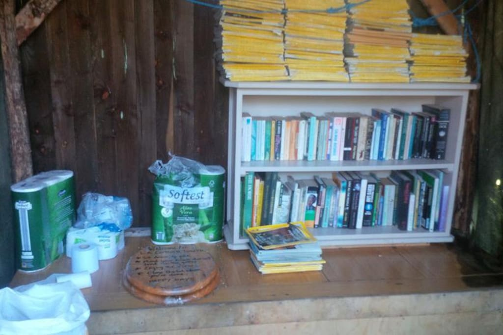 Our compost loo with its own library!