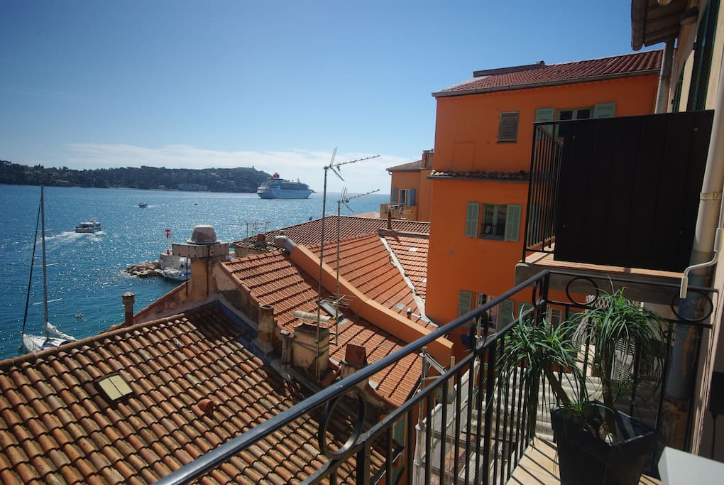 Amazing view of the bay of Villefranche.