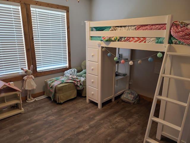 Bedroom 2 with teen loft bed