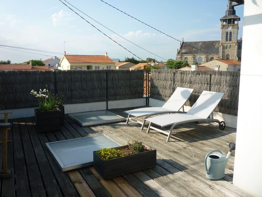 Chambre d 39 h te priv e loggia terrasse belle vue for Chambre d hote manche