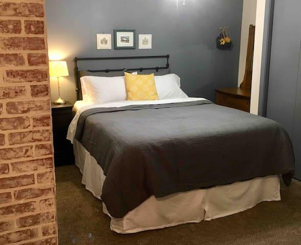 Bedroom with Queen Memory Foam Bed
