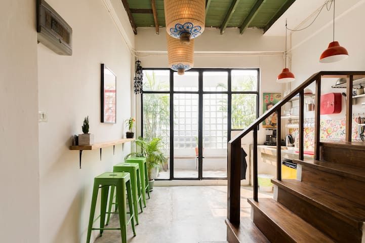 Renovated Shophouse in Silom - Chinatown area.