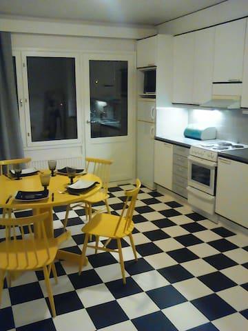 2 huonetta ja keittiö 5 km Jyväskylän keskustasta