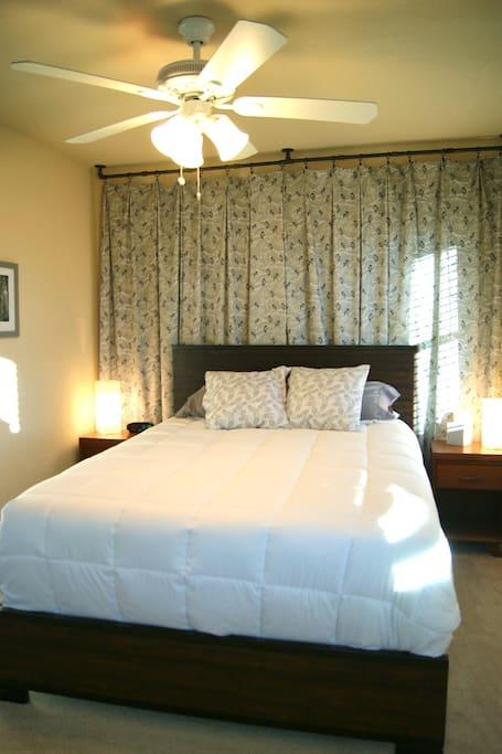 Bedroom #1  queen bed and great windows