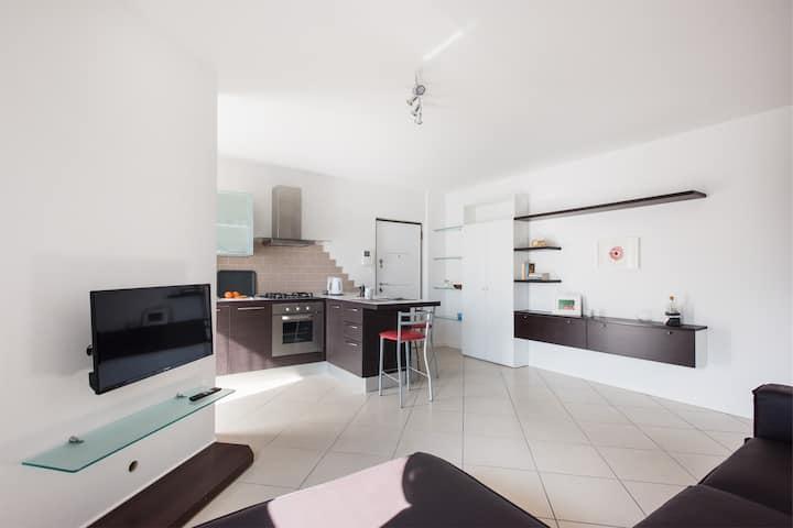Casa Paola, appartamento con balconi e vista