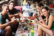 Experience to make pottery with Bat Trang Pottery Village tour