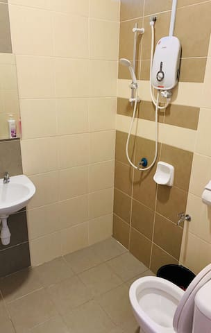 Toilet/Bathroom at Ground Floor. Wet yourself with the shower with heater!!!