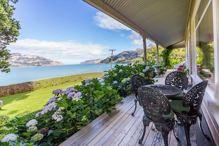 Veranda with stunning sea views