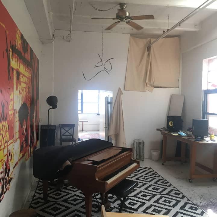 An Artist/Musician's Industrial Loft