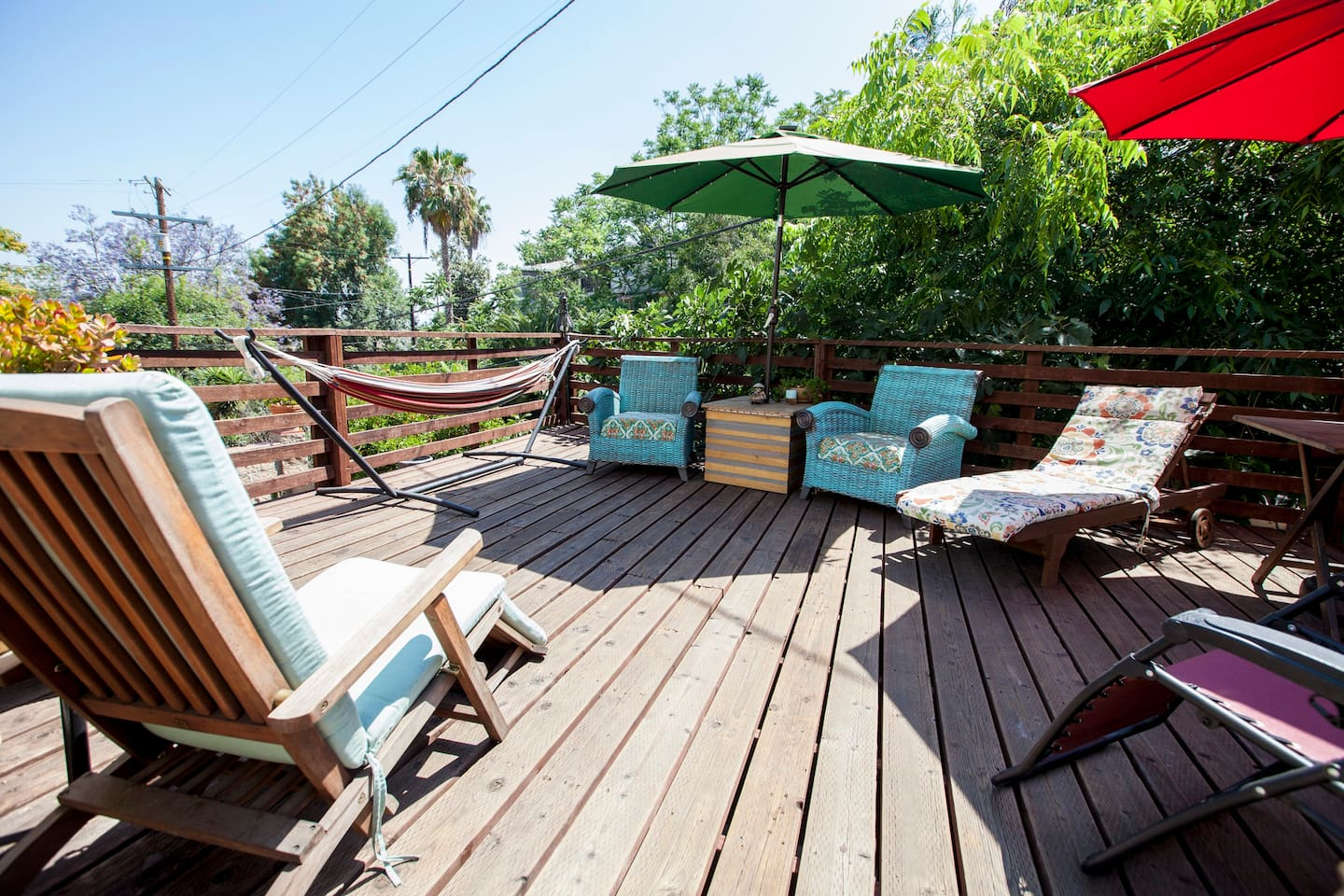 Plenty of areas to lounge around on the back deck