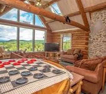 """The Hive"" Luxury Mnt Log Home At 35 Peaks View - Brownfield - Haus"